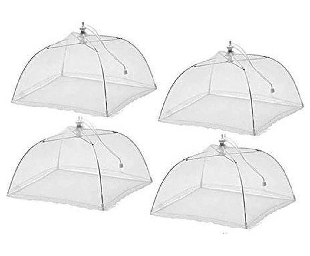 BUGGS OFF (4 pack) Large Pop-up Mesh Screen Food Cover keep flying insects away from your food