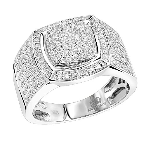 Platinum Pinky Rings (Men's Pinky Rings: 10k Diamond Band 1ctw (White Gold, Size 9.5))