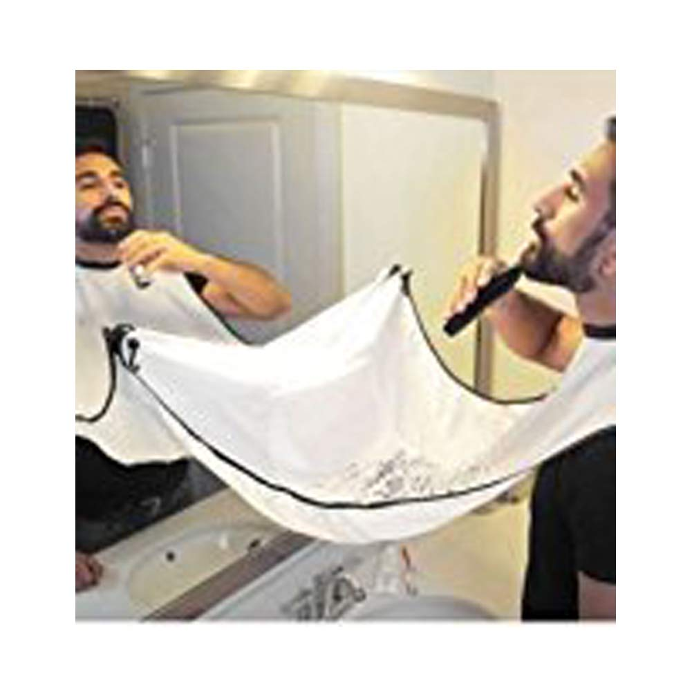 Beard Bib Shaving Mirror & Beard Catcher Apron for Shaving-Trim Your Beard in Minutes Without The Mess and Stop Clogging Your Sink (Black) MZYARD