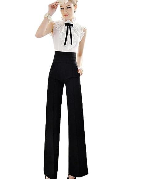 36ad7c8c49c2a8 Toraway Sport Pants, Women Casual Flare Wide Leg Long Pants High Waist  Palazzo Trousers (