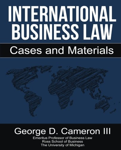 International Business Law: Cases and - Cameron International