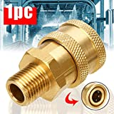 Lhoste 1pc High Pressure Washer Brass Quick Connect Coupler Converter Adapter 1/4' Male (MNPT) for Power Washers Connector Mayitr