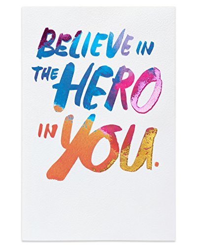 American Greetings Hero Thinking of You Card with Foil