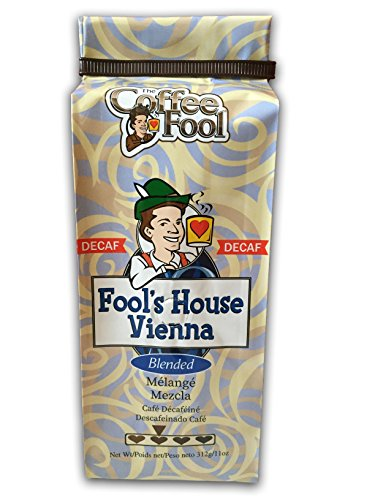 The Coffee Fool Fool's Decaf House Vienna, Coarse Grind, 11 Ounce (Coffee Fool Decaf Whole Bean compare prices)