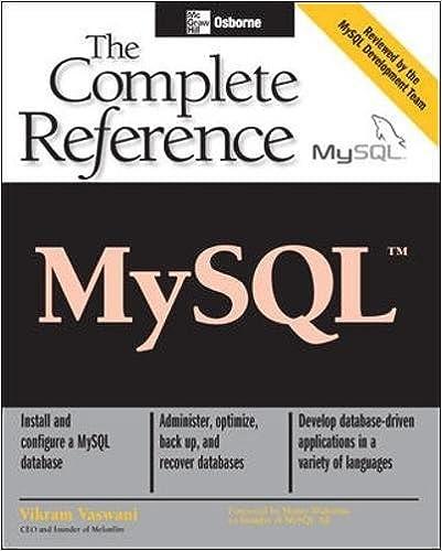 Mysqltm the complete reference vikram vaswani 0783254040199 mysqltm the complete reference 1st edition fandeluxe Gallery