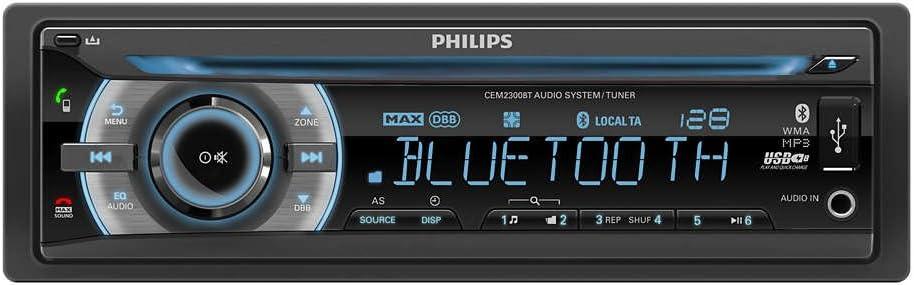 Car Audio System >> Amazon Com Philips Car Audio System Cem2300bt Automotive