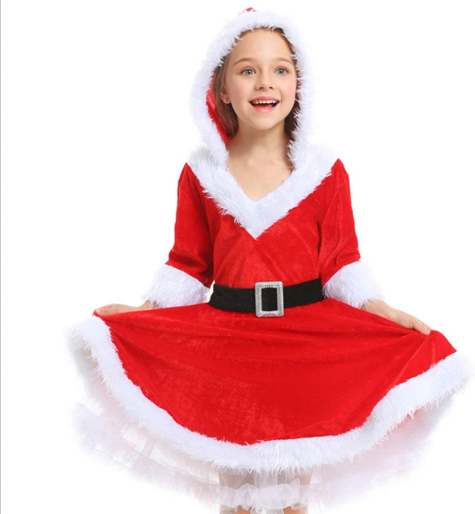 Vestido Esponjoso Rojo de Santa Claus Disfraz de Navidad para ...