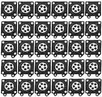 SODIAL 30 Piezas de Carburador Partes Motosierra Almohadillas de Membrana de Carburador Para Zama Motosierra Carburador 2500/3800/4500/5200/5800 ...