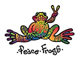 Enjoy It Peace Frogs Hope Peace Frogs Car Sticker, Outdoor Rated Vinyl Sticker Decal for Windows, Bumpers, Laptops or Crafts