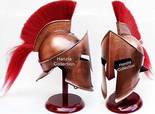 Hanzlacollection Medieval Armor King Leonidas Greek Spartan 300 Roman Helmet on Wooden -