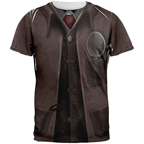 Halloween Sherlock Holmes Costume All Over Adult T-Shirt - (Sherlock Holmes Halloween Costume)
