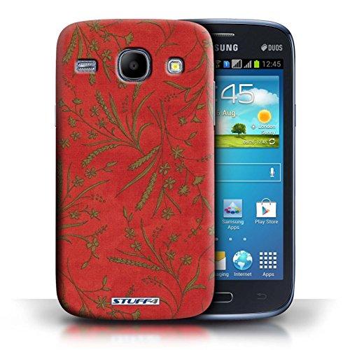 Kobalt® Imprimé Etui / Coque pour Samsung Galaxy Core / Rouge/Vert conception / Série Motif floral blé