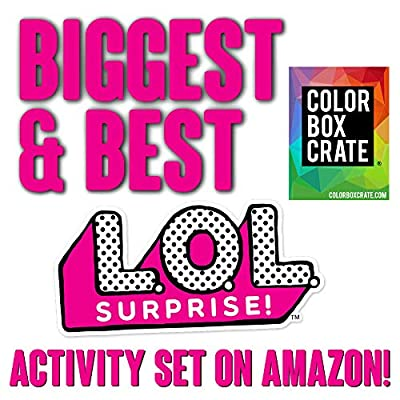 LOL Surprise Activity Toy Set for Girls by ColorBoxCrate 7 Pack Includes 3 LOL Surprise Dolls Coloring Books, LOL Surprise Dolls Toys, 70 LOL Dolls Stickers, Play Pack, Crayons and More, Ages 3 to 10: Toys & Games