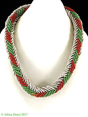 Seed Beaded Rope - Beaded Rope Necklace Seed Beads Chad Africa