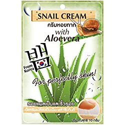 Snail Face Mask, Facial Treatments Serum with Aloe Vera, Anti Wrinkle, Anti Acne, (Pack of 3)