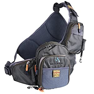 Maxcatch fly fishing sling pack adjustable for Fishing backpack amazon