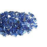 Mr. Fireglass 1/4″ Reflective Fire Glass with Fireplace and Fire Pit, 10 lb, Cobalt Blue For Sale