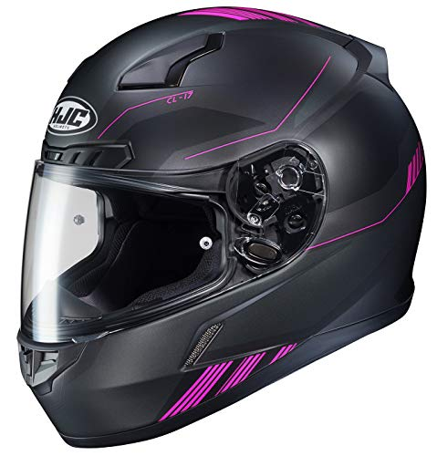 HJC Unisex Adult Full Face CL-17 Combat Motorcycle Helmet MC-8SF Black/Pink Small ()