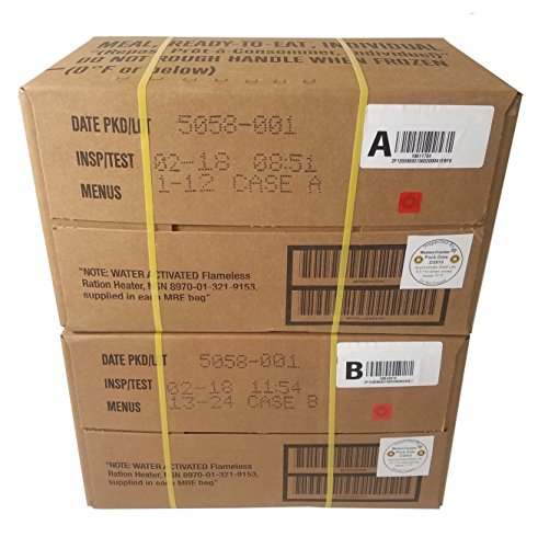 2018-ULTIMATE-MRE-Case-A-and-Case-B-Bundle-24-Meals-with-2018-Inspection-Date-Military-Surplus-Meal-Ready-to-Eat-with-Consumer-Shelf-Life-Data-Decal