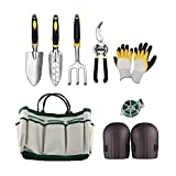 Garden Tool Set Aluminum Hand Tool Kit,Outdoor Tool,Garden Tote,Vegetable Herb Garden Hand Tools