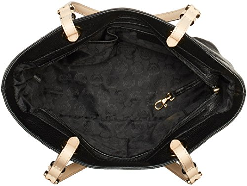 michael kors women s bedford leather tote top handle bag black. Black Bedroom Furniture Sets. Home Design Ideas