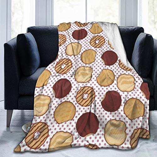 Undertale Annoying Dog Fleece Blanket Throw,Cookies Chocolate Women