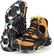 25 Microspikes Crampons Ice Cleats for Men Women Hiking Walking Fishing Safety Traction Cleats Snow Ice Grips