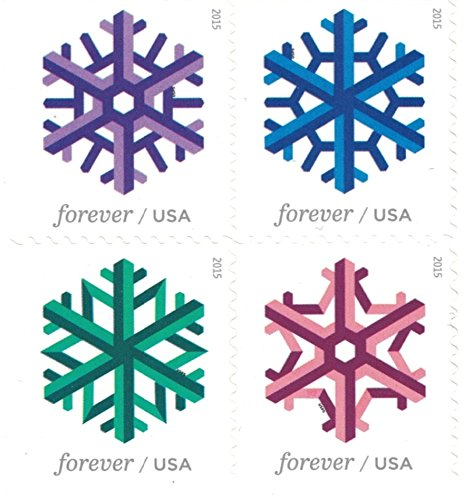 Geometric Snowflakes USPS Forever Stamps 100 Stamps (5 Books of 20) Photo #7