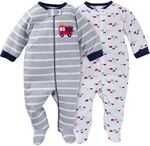 Gerber Baby Boys' 2 Pack Zip Front Sleep 'N Play