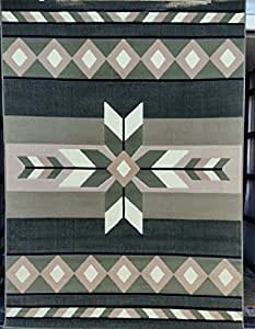 Southwest Native Area Rug Sage Green Design #NS2(5ft3in x7ft2in..)
