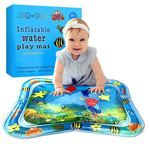 BOMPOW Baby Inflatable Tummy Time Water Play Mat Infants Toddlers Perfect Fun time Play Activity Mat for Your Baby Stimulation Growth Skill