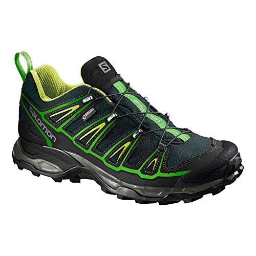 Salomon Herren Wanderschuhe X Ultra 2 GTX Green Black/Black/Gecko Green 45 1/3