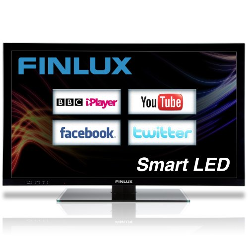Finlux 46 Inch Frameless Smart DLNA Full HD 1080p LED TV Freeview Widescreen PVR Black - 46S8070-T