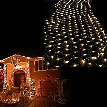 Hengda® led lichternetz 300 leds 3x3m vorhang beleuchtung innen ...
