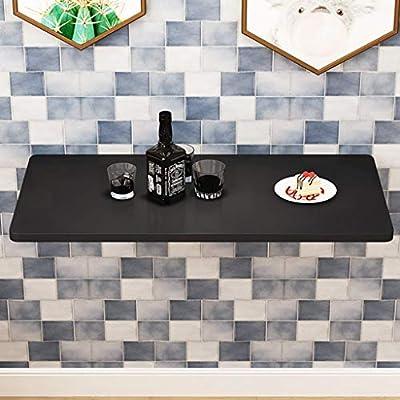 SjYsXm-wall table Mesa de Comedor Plegable Negra Mesa de Comedor ...