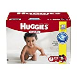Huggies Snug and Dry Diapers, Size 3, Economy Plus Pack, 222 Count by Huggies