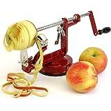 MEGLIO AEAP01 Apple and Potato Peeler Corer and Slicer, Cast-Iron Body, Suction Base