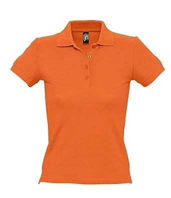 SOLS - Polo de piqué de algodón para Mujer Naranja Naranja L ...
