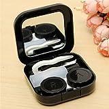 Actopus Portable Cute Travel Contact Lens Case Eye Care Kit Holder Mirror Box