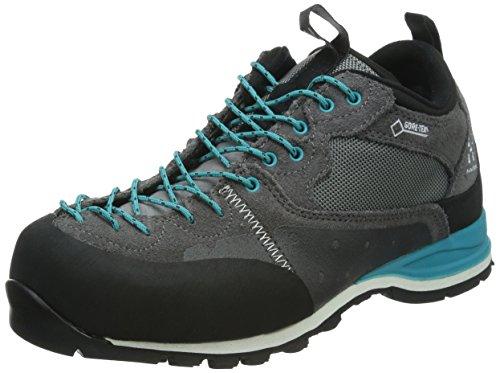 HaglöfsROC ICON Q GT - zapatillas de trekking y senderismo de media caña mujer multicolor - Mehrfarbig (2UH GRANITE/BLUEBIRD)