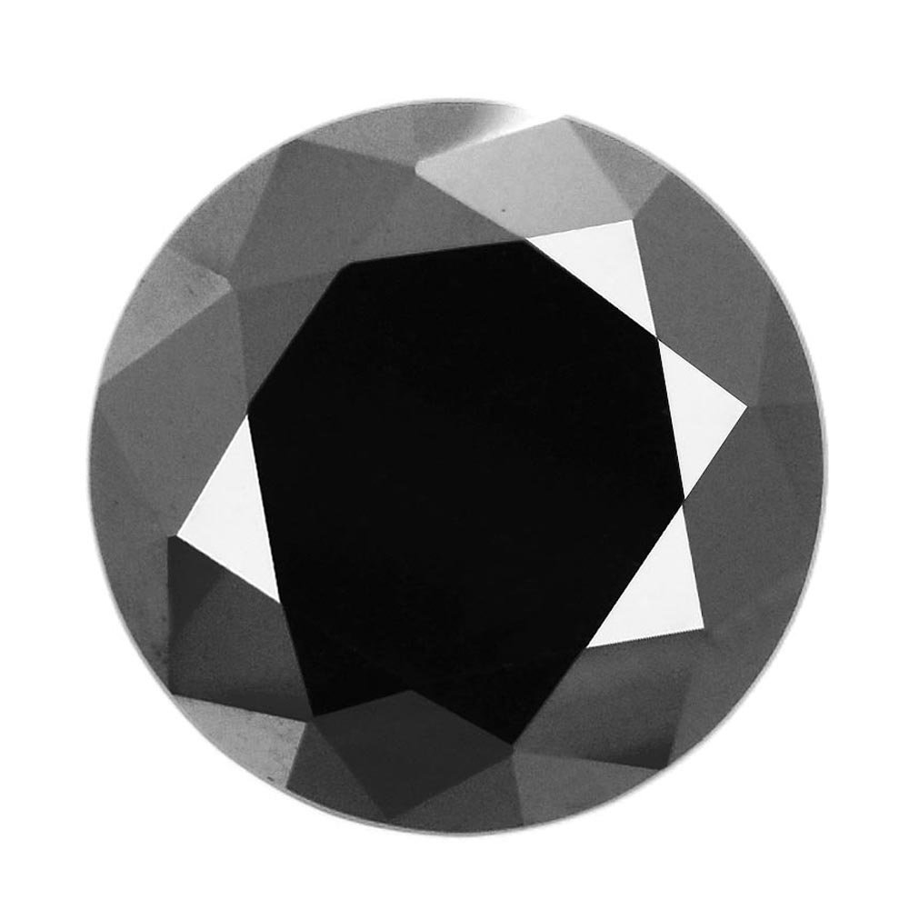 Skyjewels Certified 2.05 Ct Round Brilliant Cut Loose Solitaire Black Diamond