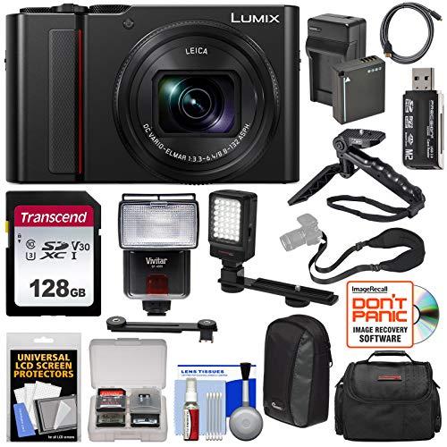 Panasonic Lumix DC-ZS200 4K Wi-Fi Digital Camera (Black) with 128GB Card +...