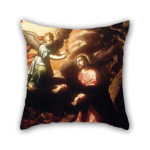 Beautifulseason Oil Painting Luis Juárez - The Prayer In The Garden Pillow Shams ,best For Him,boys,valentine,home,valentine,home Office 16 X 16 Inches / 40 By 40 Cm(two (Rage Rubber Wig)
