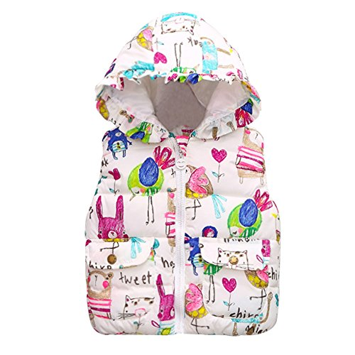 PanDaDa Baby Girl Winter Coat Animal Graffiti Print Thick Jacket 2-3T