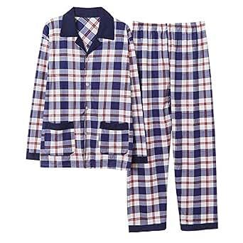 Thadensama Autumn Winter Men's Pajamas Long Sleeve Home