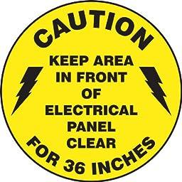 Accuform Signs MFS865 Slip-Gard Adhesive Vinyl Round Floor Sign, Legend \