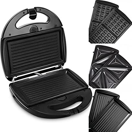 Redmond Rsm M1404 E Electric Sandwich Maker Toaster Waffle Maker Grill Set Of 3 Removable Plates Amazon In Home Kitchen