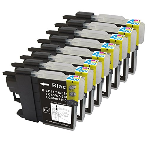 Ink & Toner 4 You Compatible Ink Cartridge Replacement for Brother LC-61 ( Black , 8-Pack )