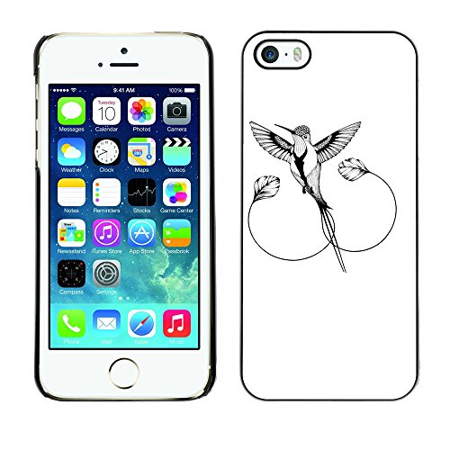 Omega Case PC Polycarbonate Cas Coque Drapeau - Apple iPhone 5 / 5S ( The Mockingbird )