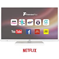 "JVC LT-24C681 Smart 24"" LED TV, White, Access Content On Netflix,HD Ready 720p, Built In Wifi"